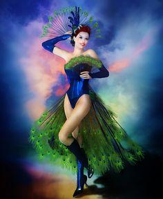 Madame Peacock by Karen Koski ~ peacock costume