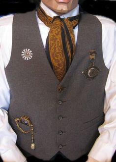 Mens  Steampunk  Time Travelers Art Vest