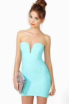 Helix Dress in Mint by Nasty Gal