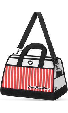ff42e63894c3 JumpFromPaper Red Stripe Travel Bag Best Price