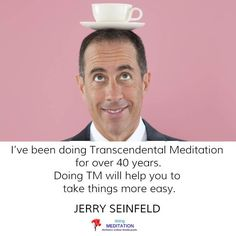 One common thing among most successful people is meditation. So, get ready to know about these celebrities who meditate daily without fail. Jerry Seinfeld, Successful People, 40 Years, Meditation, Celebrities, Memes, Celebs, Meme, Celebrity