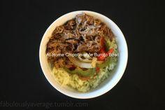 Fabulously Average, At Home Chipotle Style Burrito Bowl