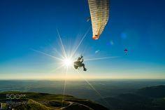 paragliding over puy de dôme by RaphaelNovella