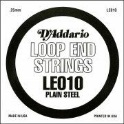 D'Addario LE010 Loop End Plain Steel Guitar Single String .010 The UK & Europe's No.1 supplier of guitar strings, bass strings and instrument accessories at discount prices in quantities of your choice.