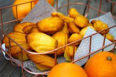 Paulas Frauchen: Orangen‑Madeleines mit Orangengelee-Füllung