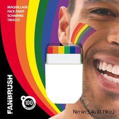 Rainbow Flag Face Paint Gay Lesbian Pride Festival