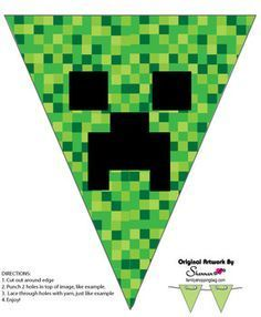Banner, Minecraft, Party Decorations - Free Printable Ideas from Family http://Shoppingbag.com