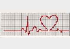 Cross-stitch Beat of My Heart, part 2... s comentários - Dinha Ponto Cruz - bem vindos deixem seu                                                                                                                                                                                 Mais