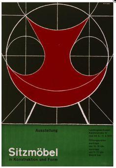 Herbert W. Kapitzki, artwork for Seating furniture, 1957. Landesgewerbeamt Baden-Württemberg