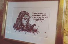 Not today - Arya Stark #gameofthrones #Got #illustration #poitillisme #art #AryaStark