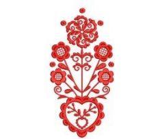 Výšivka kútna plachta 5, červená, 9x17 cm Textiles, Embroidery Ideas, Tattoo, Tattoos, Fabrics, Tattos, Textile Art, A Tattoo