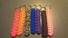 Paracord keychains.