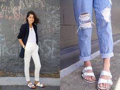 White Birkenstock sandals are our favorite for summer