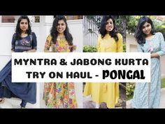 பொங்கல் ஸ்பெஷல்  Myntra Pongal Haul   Jabong & Myntra Kurta Try on Haul for Pongal 2019 - Festive Kurta Looks. I bought myntra kurta & jabong kurta for pongal & festive season, here is the my pongal outfit ideas 2018. These budget kurta are so affordable kurta, perfect indian clothes for pongal. Hope you liked my pongal clothes ideas / pongal kurta looks. How you liked my Pongal Kurta Looks 2019 - Pongal Outfits Haul? Myntra Haul tamil & Jabong haul tamil under 500 2019. Indian Clothes, Indian Outfits, Try On, Street Fashion, Festive, Online Shopping, Outfit Ideas, Budget, Street Style