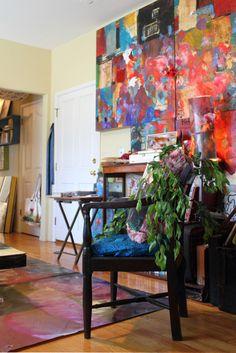 Artist Sabrina Ward Harrison's Wonderful and Creative Home.