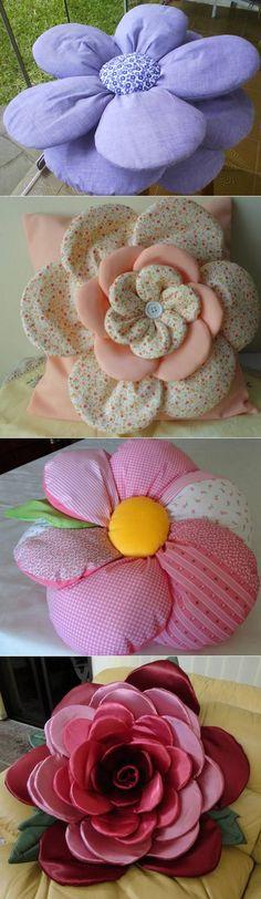 Декоративные подушки - цветы