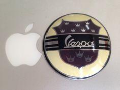 Badge Vespa King Brand New Convex Resin