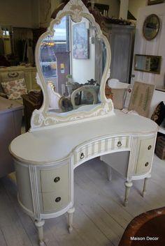painted vintage vanity - Google Search