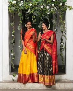 16 Silk Half Sarees That Caught Our Acute Attentions Half Saree Lehenga, Saree Look, Saree Dress, Bridal Lehenga, Saree Wedding, Lehanga Saree, Silk Dupatta, Sabyasachi, Anarkali