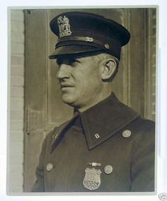 Police officers who serve and protect every day.  This a vintage Lewis Hine Photo NYC Police Officer ca. 1920s