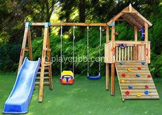 Play space club house backyard
