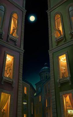 Full Moon Games ~ artist Vladimir Kush #art