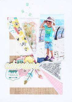 Adventure by Steffi Ried / #scrapbooking #cratepaper