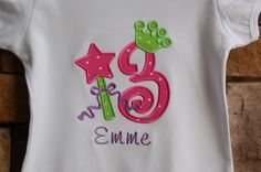 Personalized Applique Birthday Princess Crown by forthelittlepeeps, $21.00