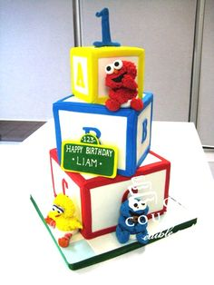 Inspired and created in Europe, Cake Couture uses its French and Spanish artistic flair to bring you unique and personalized cakes and cupcakes for any special occasion. Your cake can become a real work of art. Elmo First Birthday, Boys First Birthday Party Ideas, Boy Birthday Parties, Sesame Street Birthday Cakes, Sesame Street Cake, Elmo Cake, Elmo Party, Cuba, Kingston