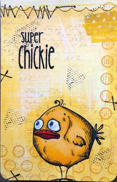 Tim Holtz BIRD CRAZY MadeByCHook: Super Chickie