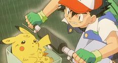 Ash and Pikachu...