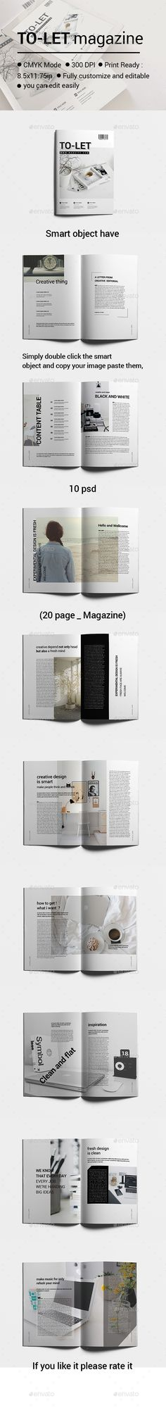 TO_LET magazine_01   Download: https://graphicriver.net/item/to_let-magazine_01/17382420?ref=Ponda #indesign #layout #template