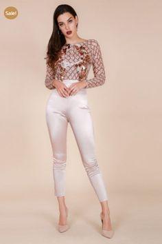 """8d7e2062779e IvyGlam """"Esme"""" Dimension Sequins Embellished Jumpsuit"""