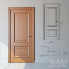Классическая дверь из дуба , стандартный модельный ряд