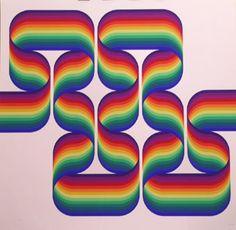 """Le Parc""""La longue marche"""", 1975. Serigrafía sobre Pantallas de 75x75 cm., Papel  de 250 gr. de medidas 75x75 cm. Ej.: 200 (125+75) #art #serigraph"""