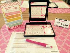 Mary Kay Set-Up Idea from Michelle Cunningham, Mary Kay Director http://www.marykay.ca/smcneely