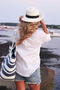 Classic east coast style | stripes and panama hat
