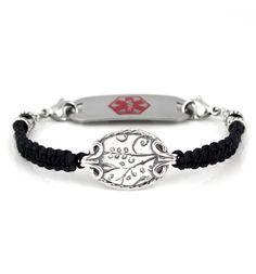 Silver Platter Medical ID Bracelet from Lauren's Hope. #laurenshope #medicalID #laurenshopeID www.laurenshope.com