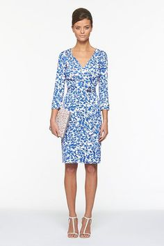 I'm leaning towards this dress for my daughter's graduation...Classic DVF wrap dress in Leaf print.