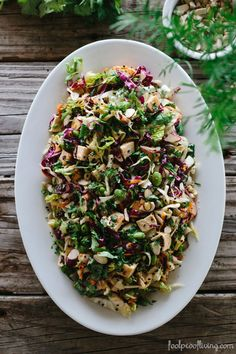 Almond and Sesame Asian Chicken Salad I foolproofliving.com