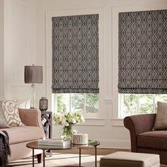 American Blinds has custom blinds, shades, and shutters from top brands with free swatches, shipping and expert design consults. Get designer looks, not designer prices. Blinds And Curtains Living Room, Window Treatments Living Room, Living Room Windows, Home Living Room, Hollywood Regency, Best Interior Design, Interior Design Living Room, Transitional Window Treatments, Blinds Inspiration