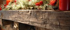 Reclaimed Antique Hand Hewn Fireplace Mantel -- Elmwood Reclaimed Timber