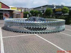 Circle the Wagons Even better if its at a store that charges 25 cents per cart