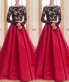 Black And Red Prom Dresses Long 2016 Sexy Illusion Long Sleeve See Though Corset Lace Party Dress Bateau Two Piece Formal Evening Gowns Peach Prom Dresses Pink Prom Dress From Molly_bridal, $95.15| Dhgate.Com