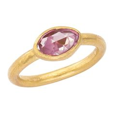 Pink sapphire and 24 K ring by Lika Behar