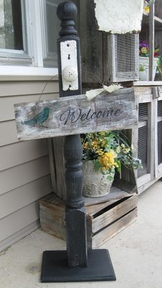PART 2 - Welcome Post w/seasonal signs
