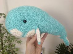 Ravelry is a community site, an organizational tool, and a yarn & pattern database for knitters and crocheters. Crochet Animals, Crochet Toys, Knit Crochet, Crochet African Flowers, Pattern Library, Ravelry, Whale, Crochet Patterns, Granny Squares