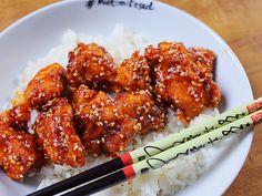 OMG: a kínai gyorsbüfék szezámos csirkéje Kfc, Tandoori Chicken, Chicken Wings, Main Dishes, Bacon, Food And Drink, Appetizers, Vegan, Cooking