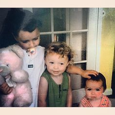 """""""This picture makes me happy when I'm sad"""" - Sam Smith (as a child with his sisters)"""