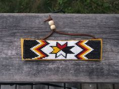 morningstar bracelet,native american beadwork by deancouchie on Etsy Loom Bracelet Patterns, Beaded Earrings Patterns, Bead Loom Bracelets, Bead Earrings, Native Beading Patterns, Beadwork Designs, Seed Bead Patterns, Indian Beadwork, Loom Patterns